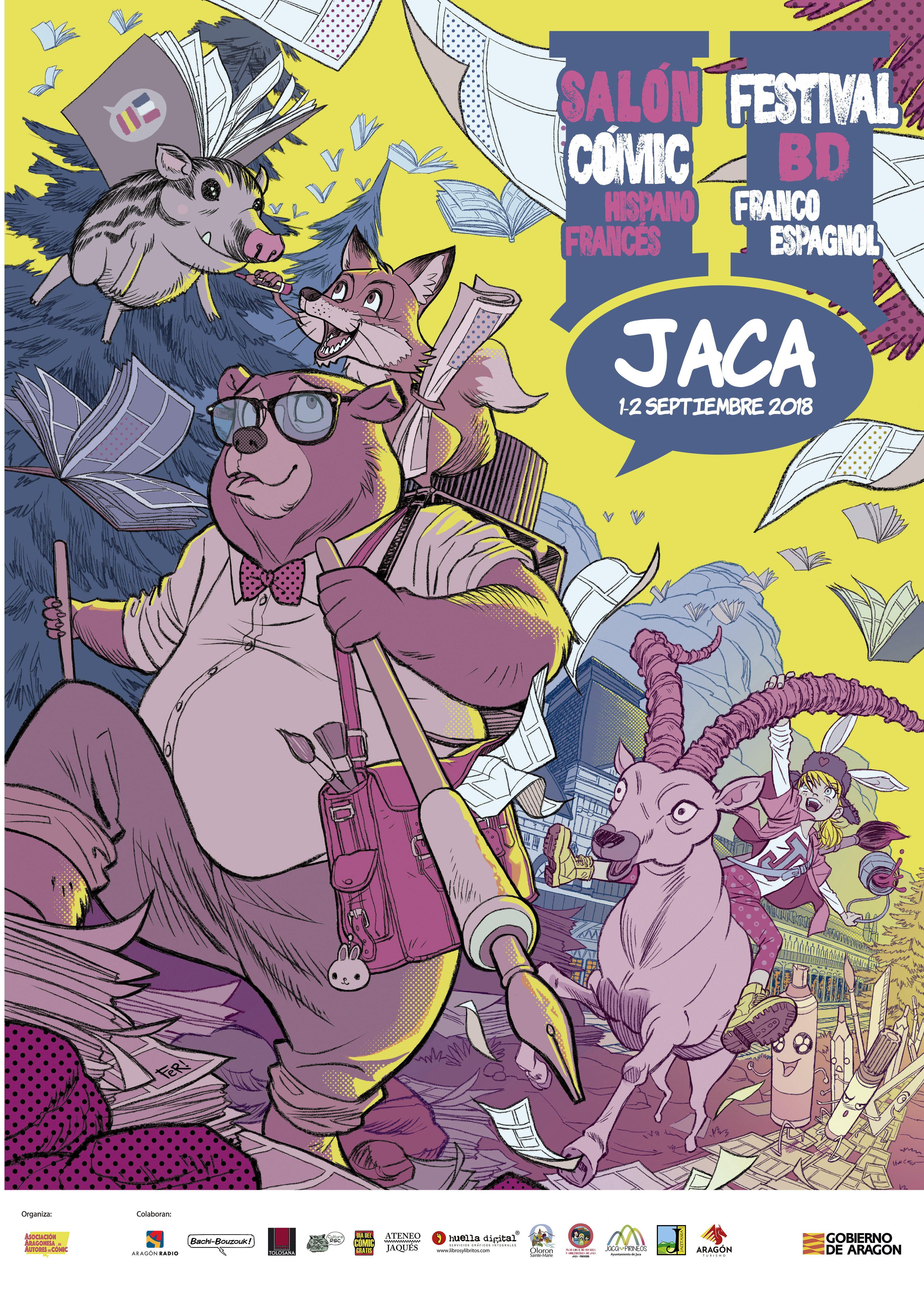 NOTA DE PRENSA Presentación en Zaragoza del II salón hispano-francés del cómic de Jaca
